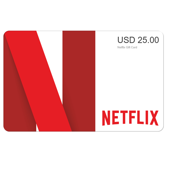 Buy netflix Gift Card - USD 25$ (India): OfficialReseller.com: Gift Cards pay in Indian Rupees get 25$ worth of netflix gift card