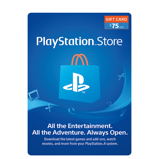 Buy PSN Gift Card - USD 75$ (India): OfficialReseller.com: Gift Cards pay in Indian Rupees get 75$ worth of PSN gift card