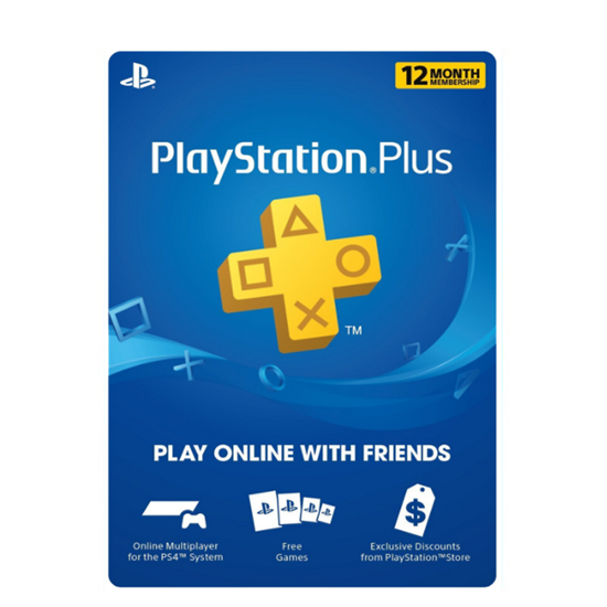 Buy PSN Plus Gift Card - USD 12 Months (India): OfficialReseller.com: Gift Cards pay in Indian Rupees get 12 months worth of PSN plus membership gift card